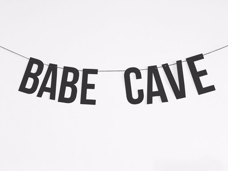 Babe Cave - Word Banner - Home Decor - Party Decorations - Girls Rule - Bachelorette by ShadesOfMint on Etsy https://www.etsy.com/listing/399986189/babe-cave-word-banner-home-decor-party