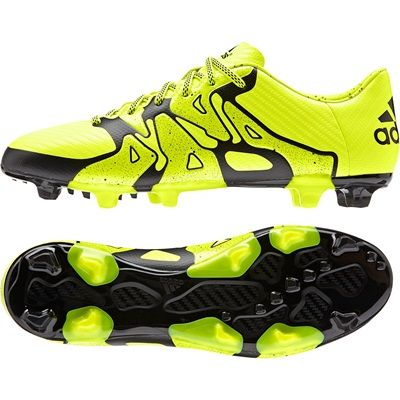 adidas X 15.3 Firm Ground Football Boots Yellow, Yellow