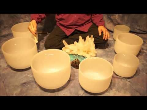 Crystal Bowl Chakra (70 Min.) Meditation C to B ~ Low to High Tones - YouTube