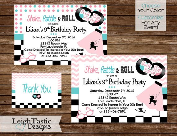 Customize For Any Event 50's SOCK HOP by LeighTasticDesigns