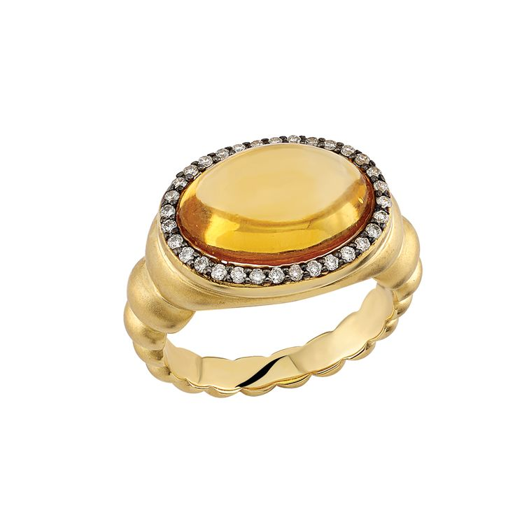 Citrines yellow color resembling sunlight made this gem the symbol of revitalizing power. Romans used to wear citrine as an amulet to be protected from evil eye and jealousy. Its light color and clarity also bring clearness to our souls. It gives zest for life, dynamism and power of self-expression. #gems #citrine #jewelry #ring