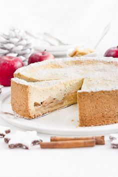 Für die weihnachtliche Kaffeetafel: Bratapfel-Käsekuchen