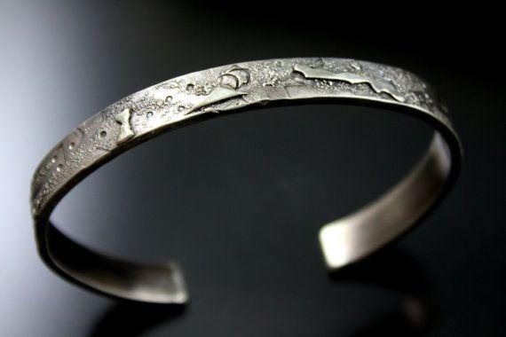 Mens Silver Cuff Bracelet, Silver Cuff ,Mens Jewelry ,Mens Bracelet, Rustic Jewelry