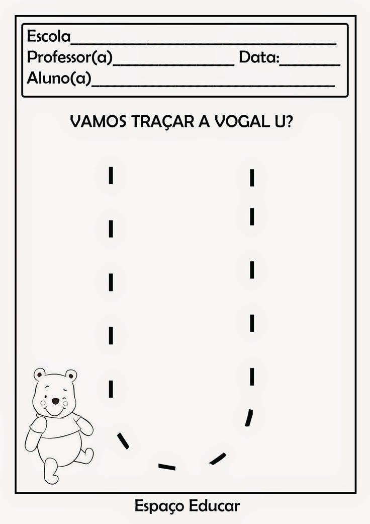 Atividades com vogais para você imprimir e utilizar com a turminha. Clique sobre as imagens para ampliá-las antes de salvar.     1. Recort...