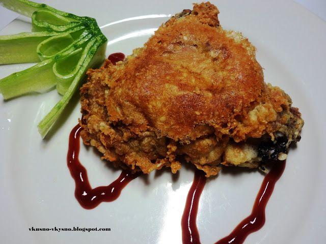 Вкуснятина.: Куриные бедрышки в сырно-кунжутной панировке.