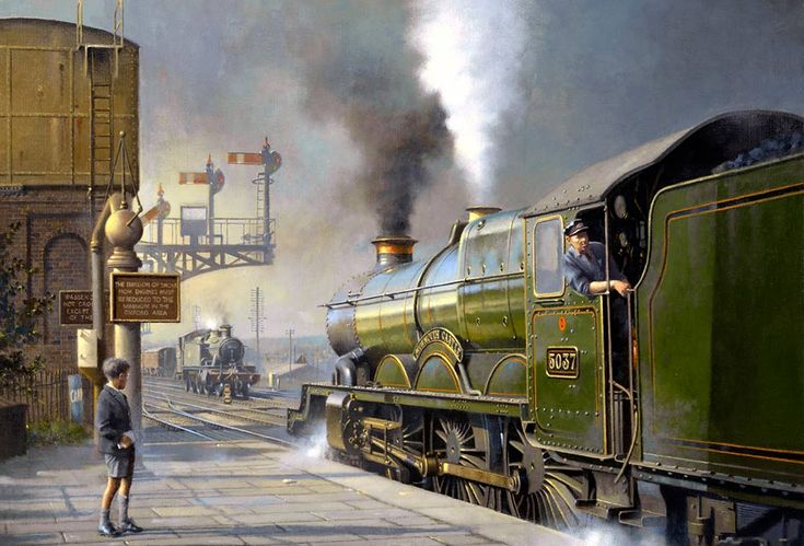 Painting of Oxford station in 1958