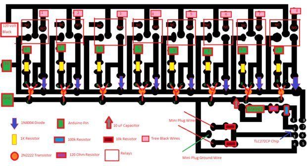 http://www.instructables.com/id/Arduino-Christmas-Light-Controller/