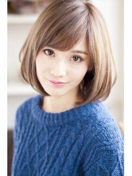 クラシカル☆オールマイティボブ☆ミルクティーカラー×モード
