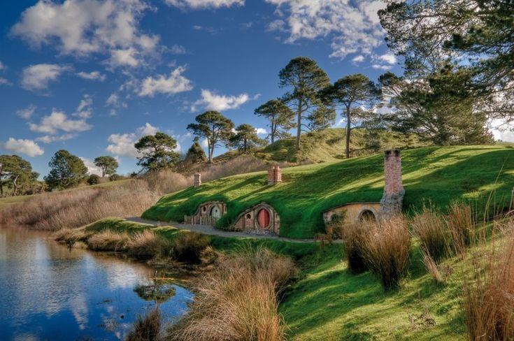Hobbingen, Neuseeland, Drehort von Der Herr der Ringe und Der Hobbit http://www.filmtourismus.de/2013/11/der-hobbit.html