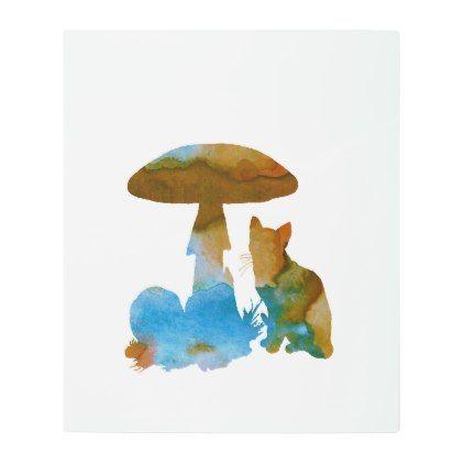 #Cat Artwork Metal Photo Print - #nurseryart #nursey #art #baby #cute #print #babies