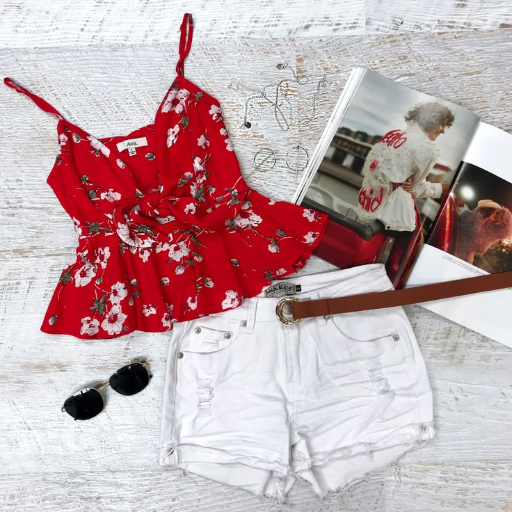 Cute crops and denim be like  shop the Scarlet Rose >>> https://www.urbansport.com.au/home/756-scarlet-rose-red-floral-crop-cami-with-tie-bust.html   Shop Eva denim shorts >>> https://www.urbansport.com.au/bottoms/496-eva-high-waisted-distressed-white-denim-shorts.html   #urbansport #fashion #red #floral #croptop #white #denim #denimshorts