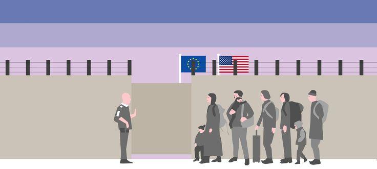 BAGGRUND Er flygtninge en terrortrussel? Mens Trump vil lukke USA's grænser af frygt for militante flygtninge, har tyskerne vendt ryggen til Merkels åbne asylpolitik. Herhjemme fastholder Dansk Folkeparti, at flygtninge kan være sendt af IS, selv om terrorforsker understreger, at ingen terrorister har været flygtninge. Læs med, og forstå et af tidens svære spørgsmål.