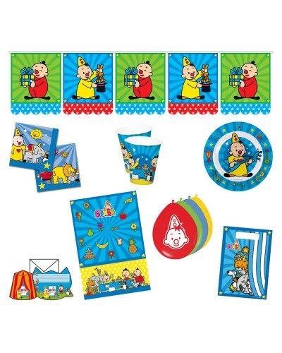 Geef een compleet feestje met een Bumba Feestpakket. In het feestpakket zitten feesthoedjes, uitnodigingen, ballonnen, servetten, bordjes, drinkbekers, een tafelkleed, een vlaggenlijn en feestzakjes. http://www.feestwinkel.nl/bumba-feestpakket.html