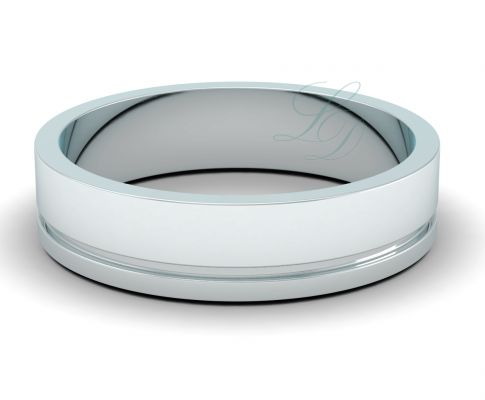 ARON - Elegant Wedding Ring FOR HIM - LucyDiamonds.cz