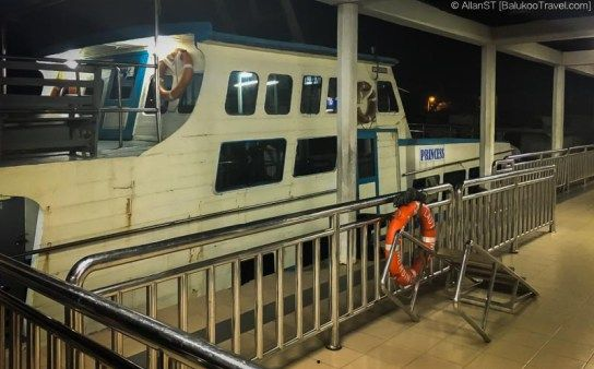 Boat to Tioman at Mersing Jetty (Mersing, Malaysia)