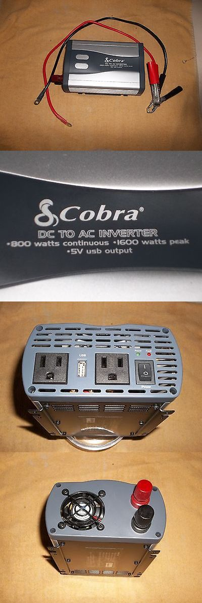 Battery Converters: Cobra 800 To 1600 Dc To Ac Inverter With 5V Usb Output BUY IT NOW ONLY: $40.49