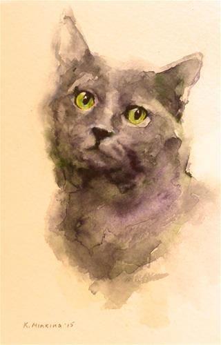 "Daily Paintworks - ""adopt119"" - Original Fine Art for Sale - © Katya Minkina"