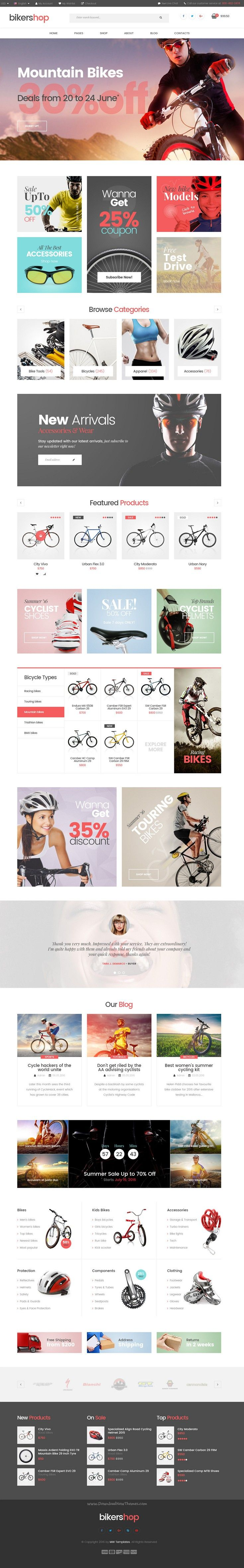 Biker Shop is a simple and functional #PSD template for multipurpose #eCommerce website. #bikeshop Download Now!