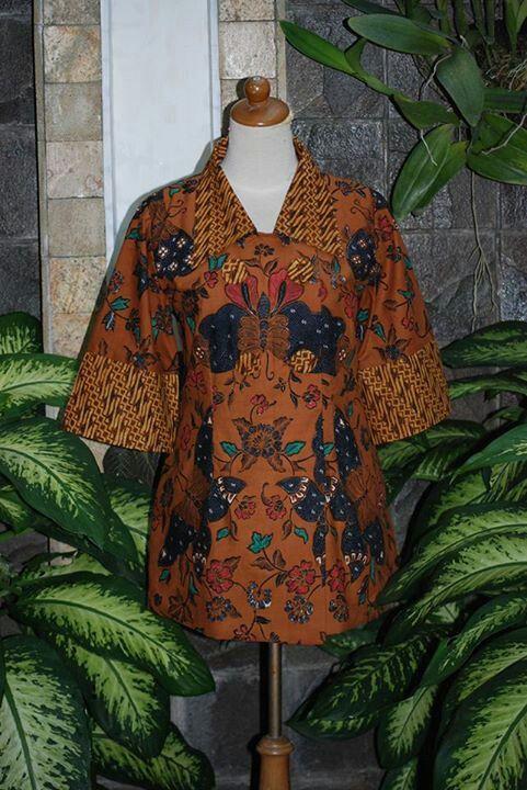 blouse kerja batik