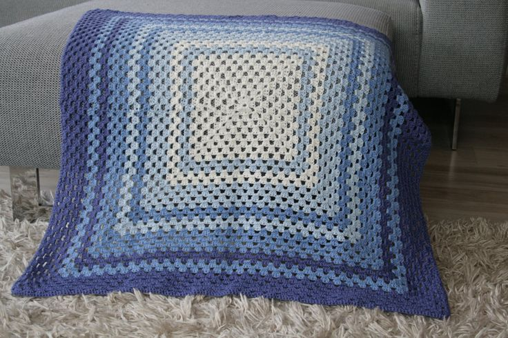 Crochet Baby Blanket Baby Shower Gift Newborn Blanket Nursery Crib Afghan Blue Infant Photo Prop Blue Baby Blanket by ShopForBabyGifts on Etsy