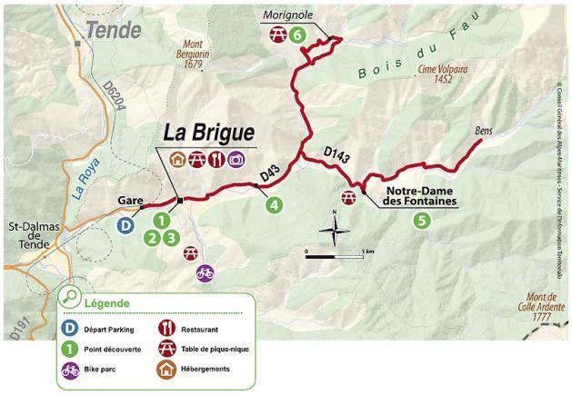 Alpes-Maritimes med cykel: Det Brigasque ride