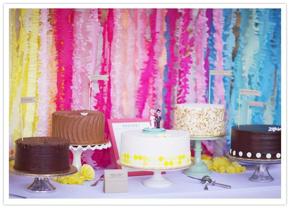 diy-streamer-backdrop-6: Layered Cakes, Crepes Paper, Birthday Parties, Cakes Tables, Streamers Backdrops, Parties Ideas, Diy Streamers, Cakes Stands, Diy Wedding