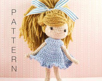 Amigurumi crochet doll Stylish little girl by BubblesAndBongo