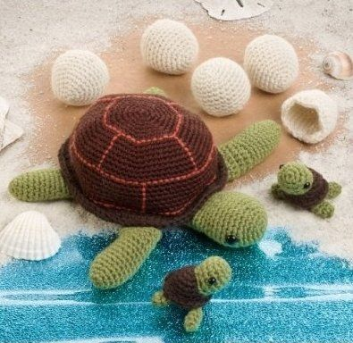 turtle crochet patterns, omg I have to make these for my turtle collection