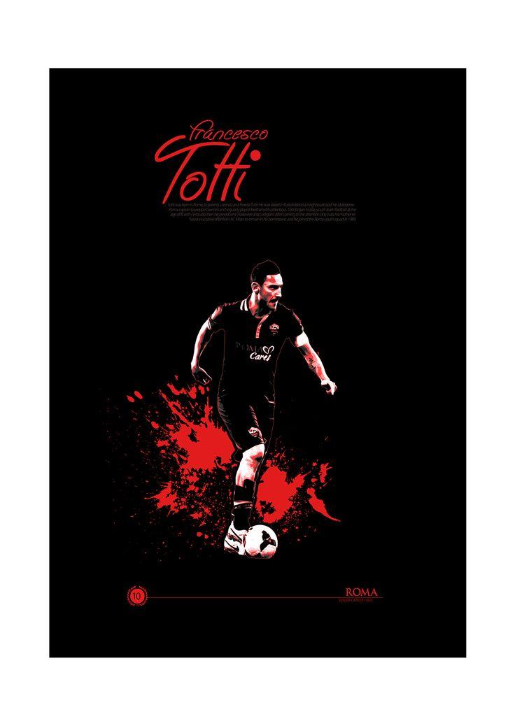 Soccer Legends Poster on Behance : Francesco Totti