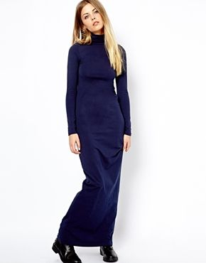 Image 1 of American Apparel Turtle Neck Maxi Dress