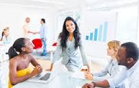 Image result for women presenting and talking to a few ladies