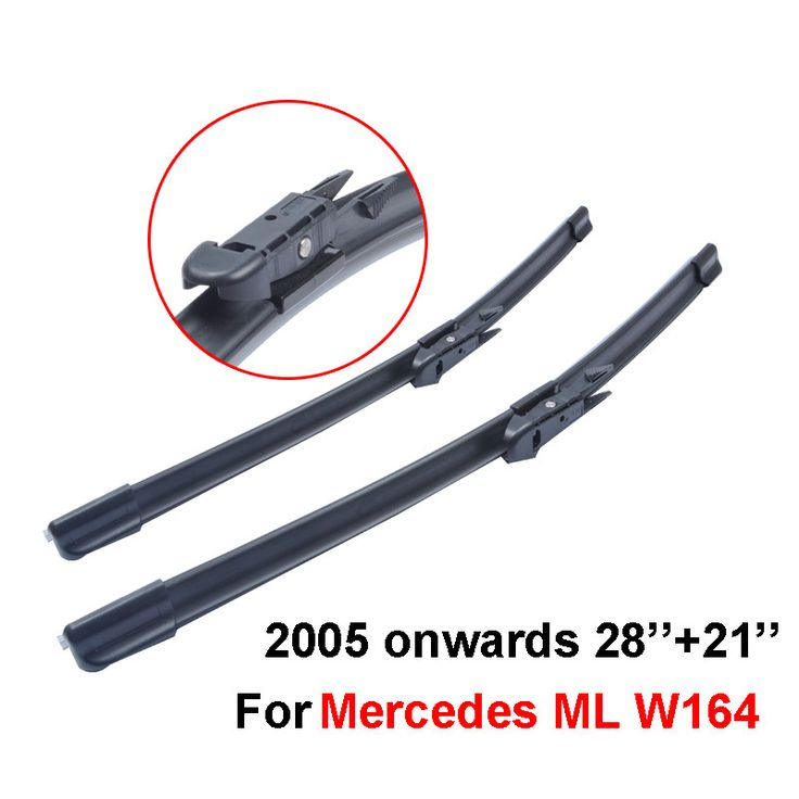 QEEPEI 2pieces/lot wipers for car For Mercedes Benz ML W164,28''+21'' rubber windscreen blades promotions,Car accessories,CPB112