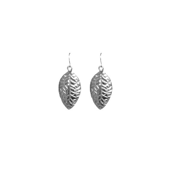 Quintessentially British, these pretty earrings are inspired by a walk through a typical British garden. Available in silver, gold or rose gold plated Stainless steel, the adorable teardrop earrings feature a hyacinth leaf design which is both feminine and sophisticated. Leaf 30mm x 18mm, approx. #annalouoflondon