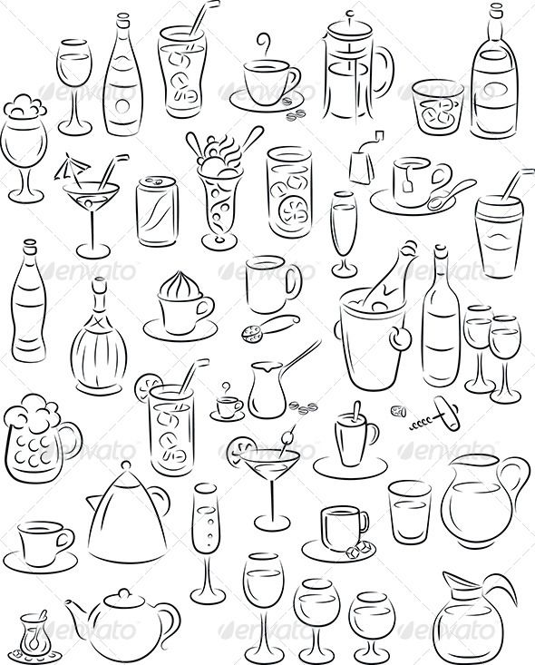 Drinks - Food Objects