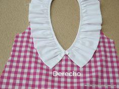 cuello blanco con volante fruncido para blusa