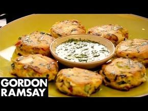 Spiced Tuna Fishcakes - Gordon Ramsay  Good-quality canned tuna is a fantastic ingredient. It's cheap and versatile. For this recipe add East Asian flavours - chilli, spring onion, coriander - to add flavour to this simple fishcake.   #picsandpalettes #fishcake #GordonRamsay