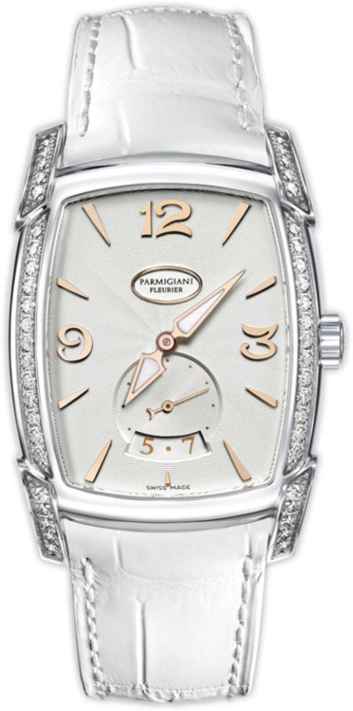 Parmigiani Fleurier PFC124-0020700-XA2422 KalpaLadies Kalpaprisma Date - швейцарские женские часы - наручные, стальные с бриллиантами, белые