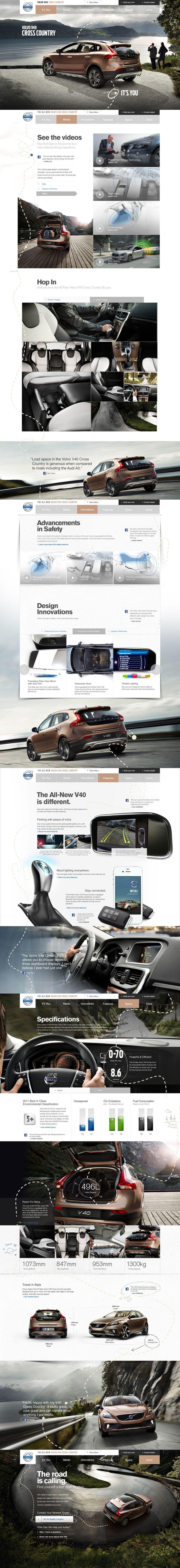 Cool Automotive Web Design on the Internet. Volvo. #automotive #webdesign #webdevelopment #website