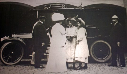 Olga and Tatiana with Dr. Botkin and Family in Germany, 1910