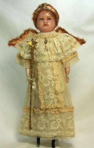 Antique Early German Angel Wax Doll c1890   eBay