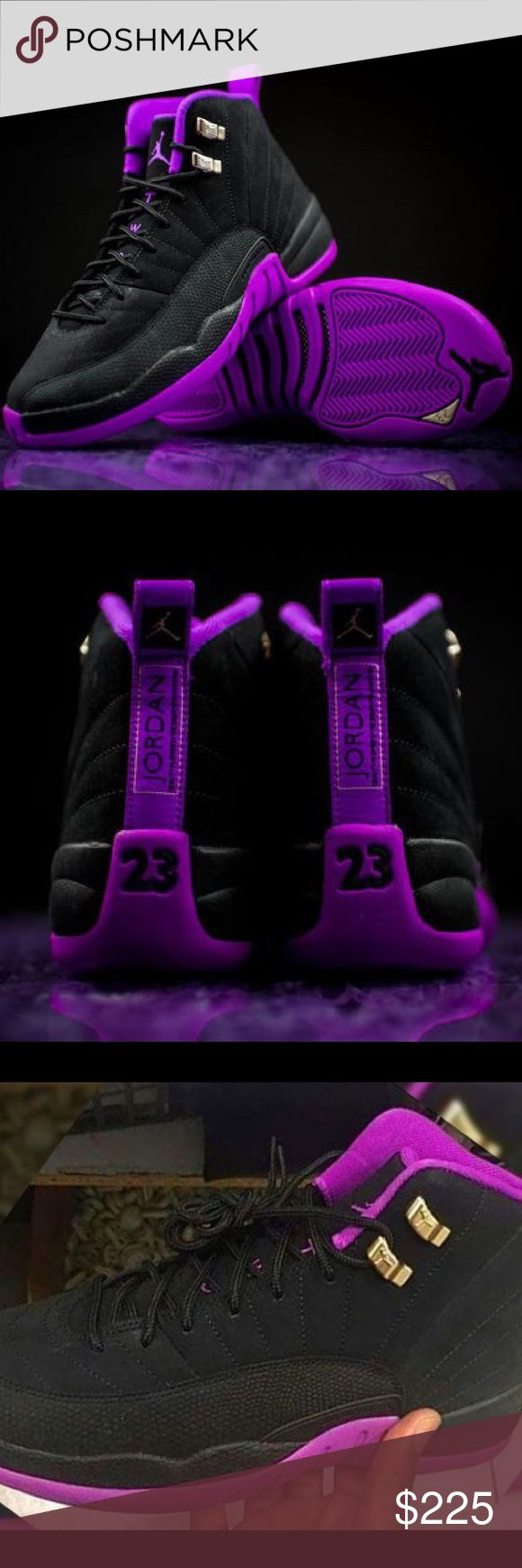 AIR JORDAN RETRO 12'sVARSITY PURPLE/BLACK AIR JORDAN RETRO 12'sVARSITY PURPLE/BLACKGIRL SIZES Thru️️ORDERS ONLY‼️ Jordan Shoes Athletic Shoes