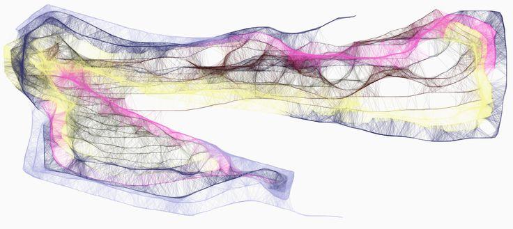 Dibujos digitales impresos en lienzo, de 100x200cm