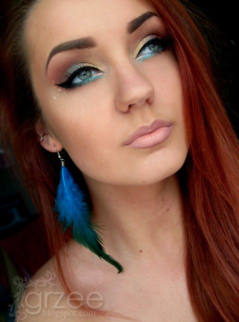 Dragon Scales. LOVE THIS!: Blue Accent, Makeup Inspiration, Make Up, Eye Makeup, Pretty Makeup, Eyemakeup, Hair Color, Pretty Eyes