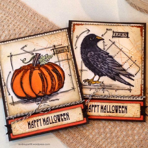 Audrey Pettit: Halloween Blueprints cards