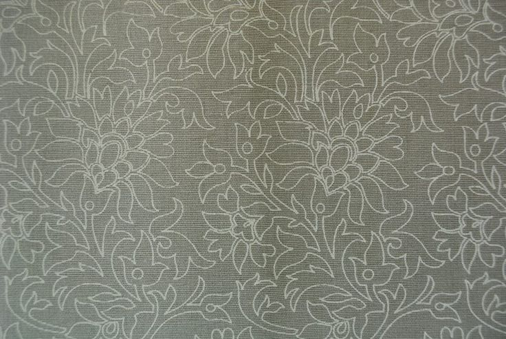 Earth Flower Etching White on Earth 100% cotton - 137cm