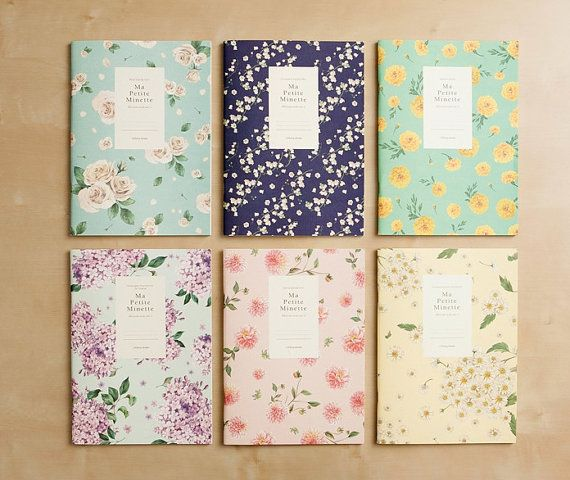 Ruled Notebook [floral pattern] / Flower Ruled Notebook / Blossom Notebook / 101002677 on Etsy, 5,15€