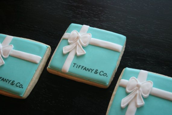 Tiffany & Co. Box cookies by oohlalabakingco on Etsy