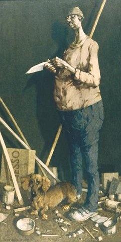 Jerzy Duda-Gracz - Autoportret z suką (1985)