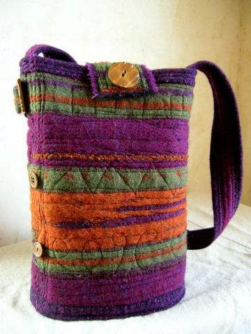 Love the combination of felting and stitching.
