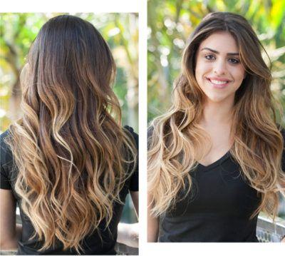 cabelos com mechas loiras californianas